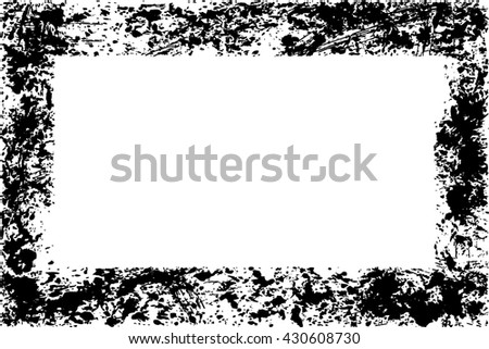 Abstract grunge vector frame background  texture