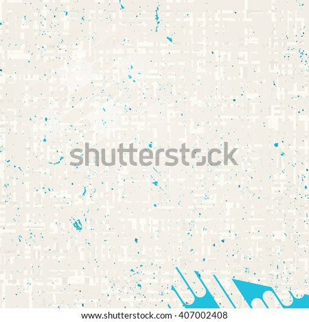 abstract, grunge wall surface. vector, old paper texture. grungy, distressed, industrial, grey background design. rough wallpaper with blue ink drops and dirty crack pattern - stock vector