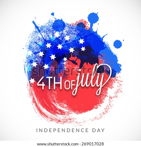 Abstract grungy background in American Flag color for 4th of July American Independence Day. - stock vector