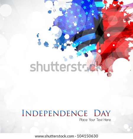 Abstract grungy background in American Flag color for 4th of July American Independence Day and other occasions or events.EPS 10. - stock vector