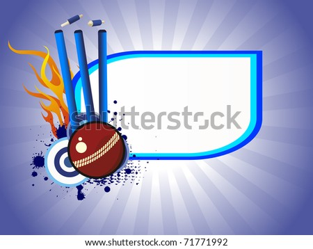 abstract grungy cricket concept background, vector illustration - stock vector