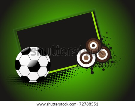 abstract grungy, dotted circle banner with football