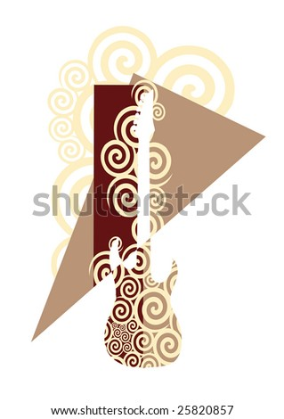 Abstract Guitar Composition. Vector illustration. - stock vector