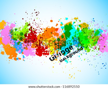 Abstract gunge background - stock vector