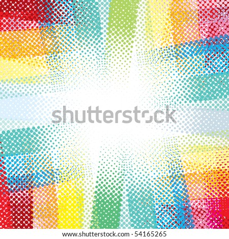 Abstract halftone background-vector
