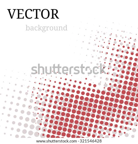 Abstract halftone background. Vector grunge illustration - stock vector