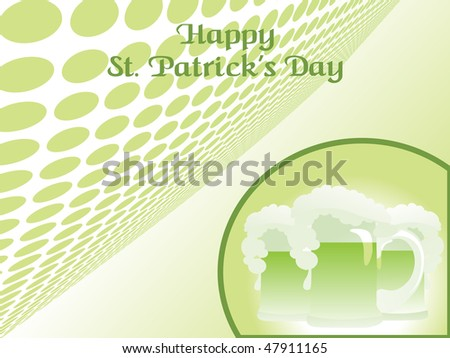 abstract halftone background with patrick day mug