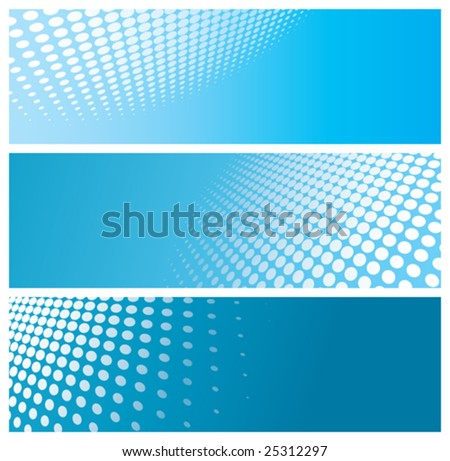 abstract halftone banners, vector illustration - stock vector