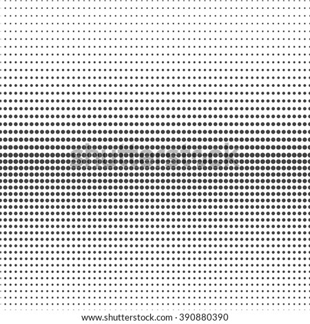 Abstract halftone. Black dots on white background - stock vector