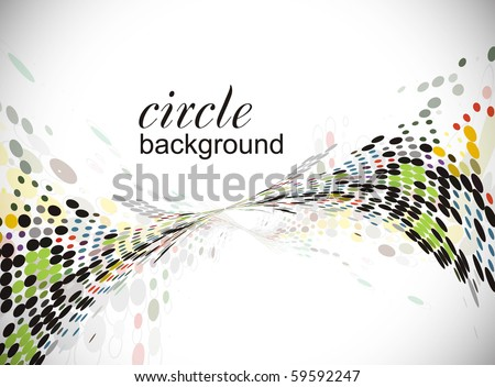 abstract halftone circle background with copy space, vector illustration.
