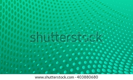 Abstract halftone dots background in turquoise colors - stock vector
