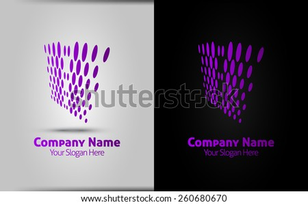 Abstract halftone dots. Logo design elements - vector template - isolated corporate logo. easy to use - stock vector