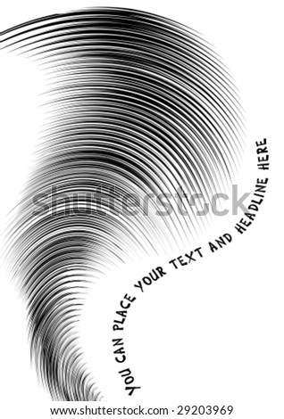 Abstract halftone lines with space for text, vector - stock vector