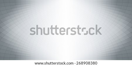 Abstract halftone perspective banner, background design - stock vector