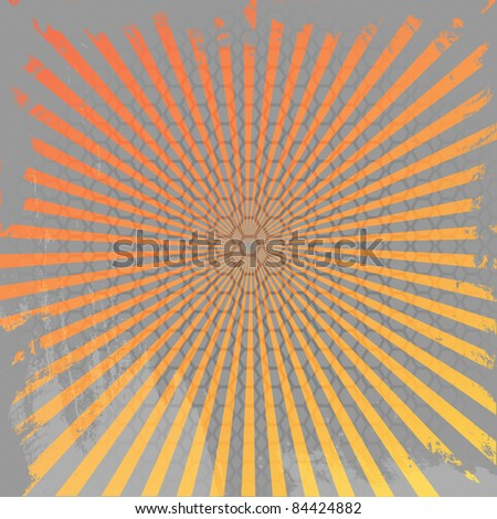 Abstract halftone  rays background . vector illustration - stock vector