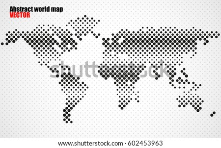 Abstract halftone world map vector stock vector 602453963 shutterstock abstract halftone world map vector gumiabroncs Image collections