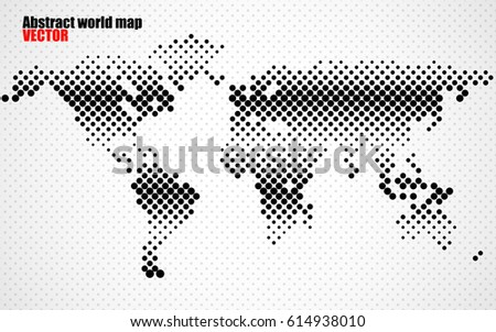 Abstract halftone world map vector stock vector 614938010 shutterstock abstract halftone world map vector gumiabroncs Images