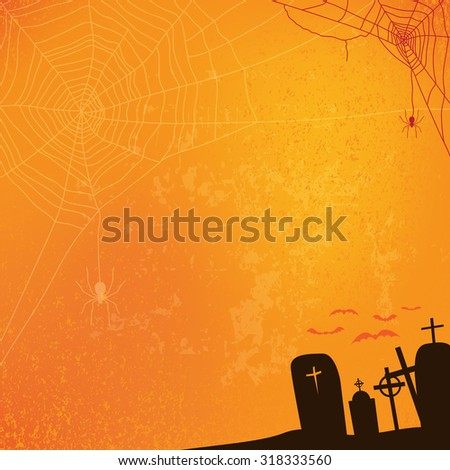 abstract halloween background, vector illustration - stock vector