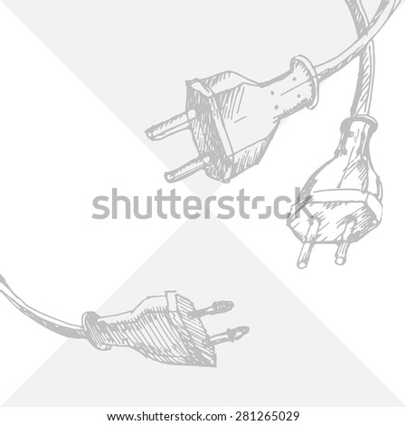 Abstract Hand Draw Sketch Background Cable Stock Photo (Photo ...