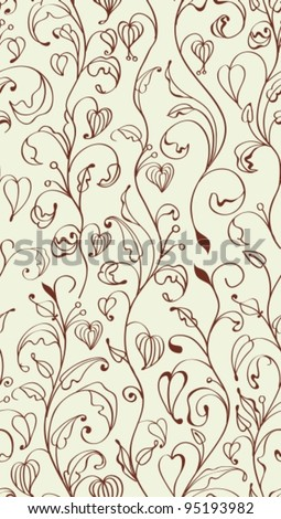 Abstract hand-drawing Seamless pattern with flowers, can be used for wallpaper, pattern fills, web page background, surface textures,vector illustration