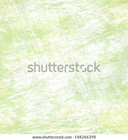Abstract hand drawn green background, vector textured background  - stock vector