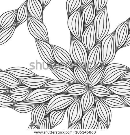 abstract hand drawn seamless pattern - stock vector