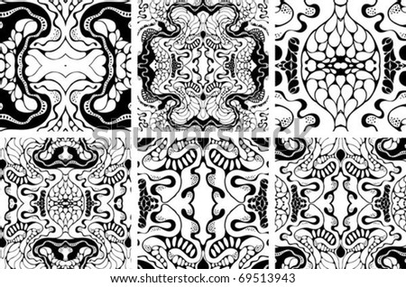abstract hand-drawn seamless pattern - stock vector