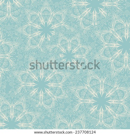 abstract hand-drawn starry pattern, starry background. pattern can be used for wallpaper, pattern fills, web page background,surface textures. Gorgeous floral background - stock vector