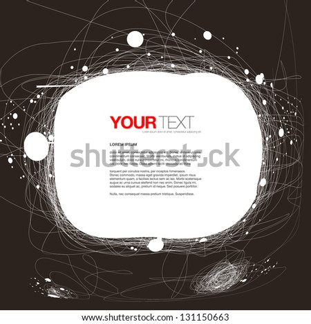 Abstract hand drawn style design text box vector