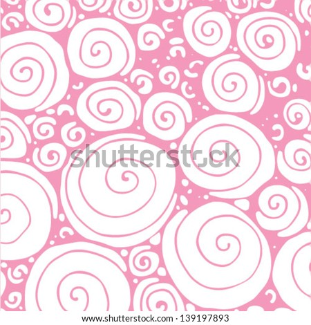 Abstract hand drawn swirls background