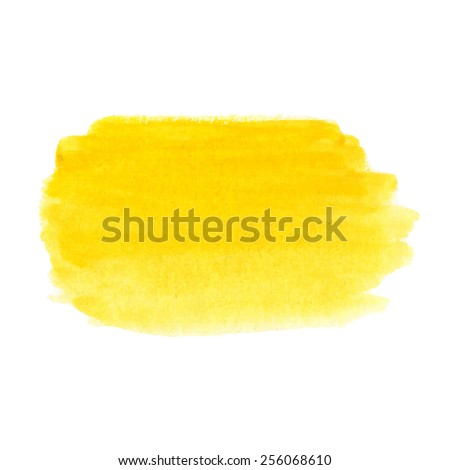 Abstract hand-drawn vibrant dandelion yellow watercolor background. Colorful template isolated on white background. Vector. - stock vector