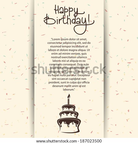 Abstract happy birthday background with special objects