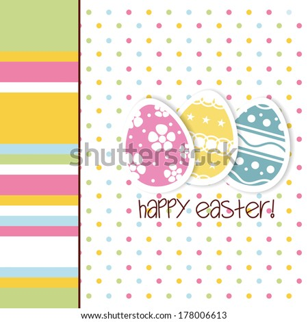 abstract Happy easter background with special objects
