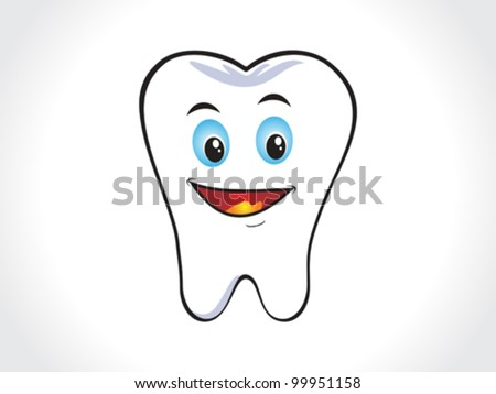 abstract happy tooth icon vector illustration - stock vector
