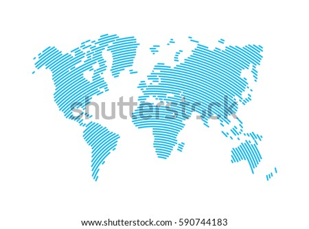 Abstract hatched world map lines world stock photo photo vector abstract hatched world map with lines world stripes mapavel vector illustration gumiabroncs Images