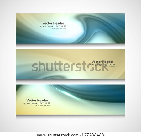 Abstract header colorful swirl wave vector design - stock vector