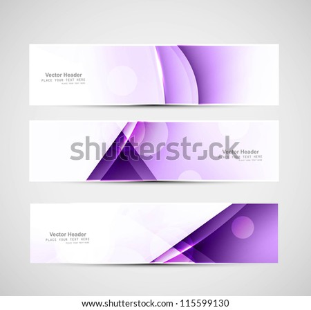 Abstract header colorful wave whit vector design - stock vector