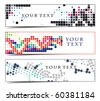 Abstract header on different themes, multi-colored, vector illustration. - stock vector