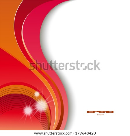 Abstract header red wave vector design  - stock vector