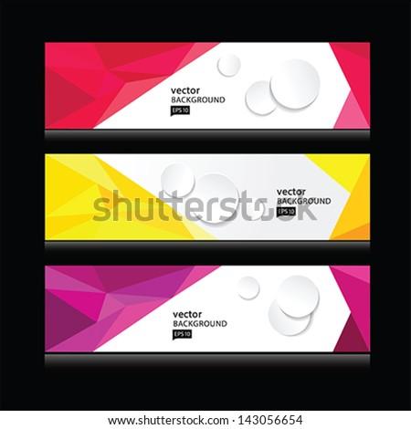 abstract header vector set EPS 10 - stock vector
