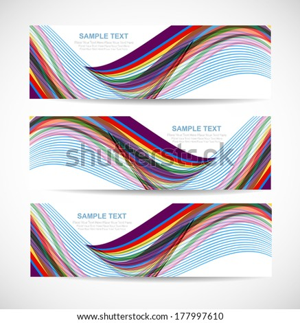 Abstract header wave vector - stock vector