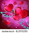 Abstract heart background vector illustration - stock vector