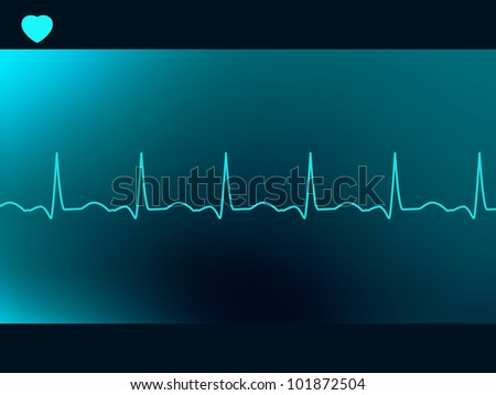 Abstract heart beats cardiogram. EPS 8 vector file included - stock vector