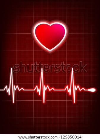 Abstract heart beats cardiogram. EPS 8 vector file included