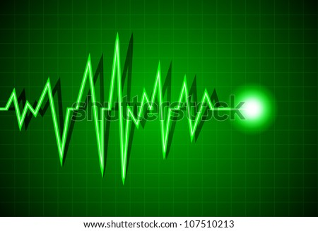 Abstract heart beats cardiogram illustration