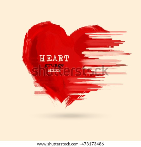 abstract heart design grunge stamps element stock vector royalty