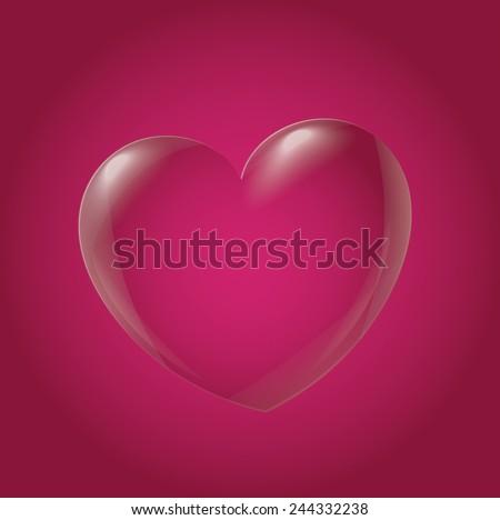 Abstract Heart Icon, magenta - stock vector