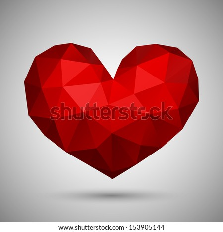 Abstract heart-shaped banner with copyspace - stock vector