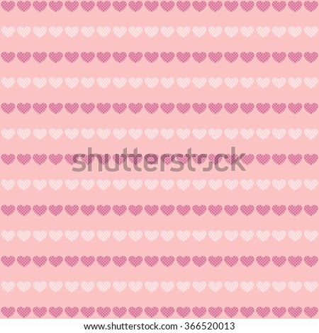 Abstract hearts pattern. Image in pink tones.