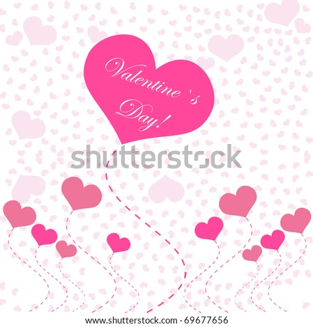 Abstract hearts. Vector illustration.